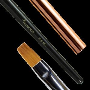 NOVÉ Student line brush - Flat #06 (natural nylon) / SLBR6