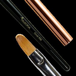 NOVÉ Student line brush - Oval #06 (natural nylon) / SLBR8